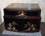 Pye Blackbox record player Chinese Lacquer style finish 1953