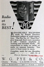 1927 Pye Model 25 advert