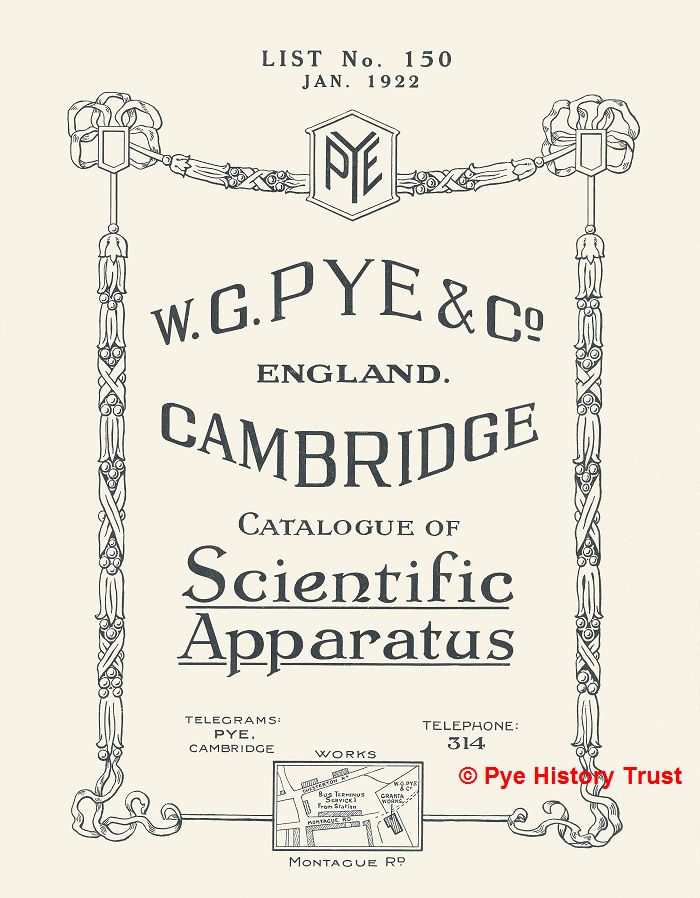 W G Pye Scientific Catalogue 1922